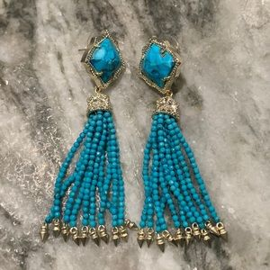 Kendra Scott Misha - bronzed veined turquoise gold